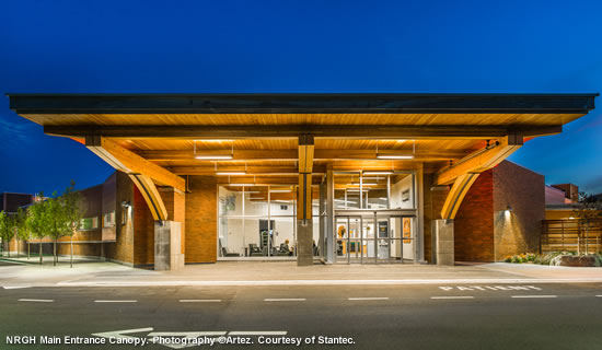 NRGH Main Entrance. Photography ©Cory Stovin